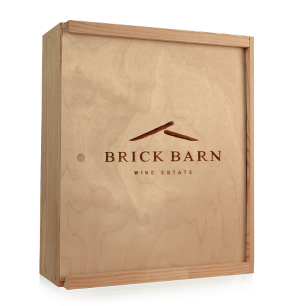 Three Bottle Wooden Wine Box